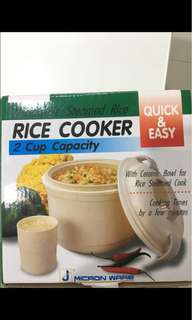 QUICK & EASY Microwave steamed rice - rice cooker