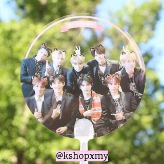 NCT 127 Transparent Hand Fan