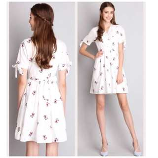Lilypirates Dreamer's Footsteps Floral Midi Dress