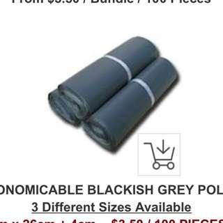 BLACKISH GREY POLYMAILERS