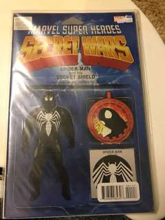 Marvel Secret Wars #1 Black Suit Spider-Man Toy Variant