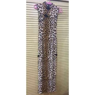 Animal Printed Long Gown