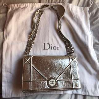 Dior silver diorama bag