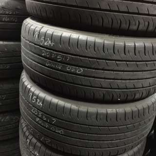 215/55/17 Dunlop 050 used tyres