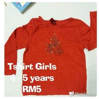 Baju Budak Girls Tshirt