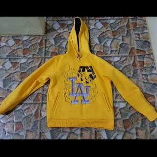 Tribal thick yellow jacket /hoodie sweater