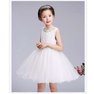 (Pre-order) Kids Princess Dress (Pink and White) #514
