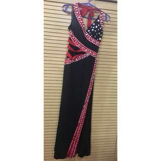 Black & Red Long Gown