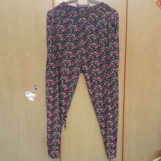 Floral Harem Long pants