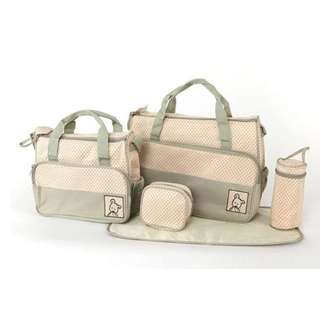 Tas Travel Perlengkapan Bayi Travelling Diaper bag 5 IN 1