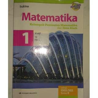buku pelajaran matematika sukino SMA 1
