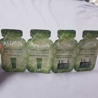 AHAVA 4 step skincare samples