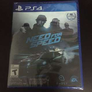 PS4 Need For Speed (New)