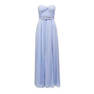 Baby blue evening dress