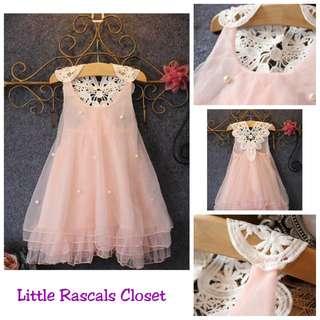 Girl Princess Ladylike Pink Dress