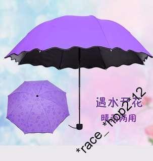 2把包順豐站取㊣遇水開花折叠雨傘 4色 $60/把減至$50/把