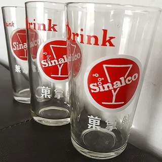 Vintage 1970s Sinalco 鲜拿果 Drinking Glass