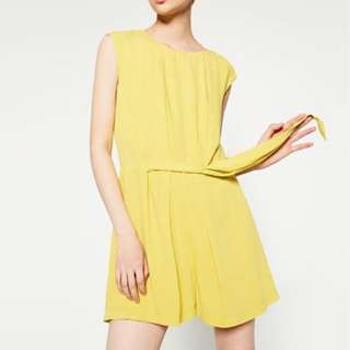 Zara lemon playsuit size 6