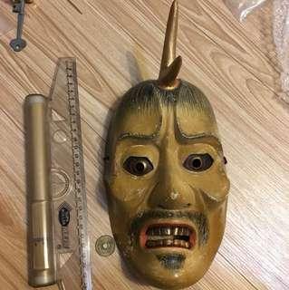 🚚 日本木製面具 一角仙人
