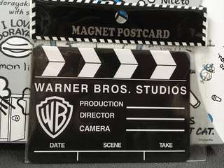Warner Bros. Studios 導演板 Magnet Postcard 華納兄弟片場打板磁石明信片