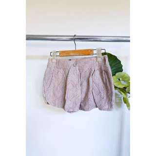 Beige Lace Shorts
