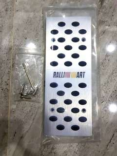Ralliart Foot Rest Plate