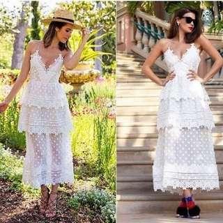Self Portrait Ivy Lace Dress ( Premium Prada Lace Brocade Party Dress)