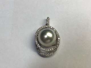 18K南洋珍珠鑲鑽石吊墜