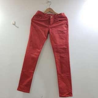 Red Orange Work Pants / Casual Pants