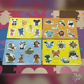 Animals Wooden Puzzle (Bundle)