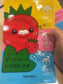 Tony Moly Runaway Strawberry Seeds 3-Steps Nose Pack (6g)