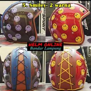 Bogo helmet leather strap motif