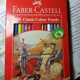 Faber Castell pensil warna isi 36
