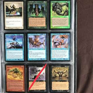 MTG Magic the Gathering Cards - Glowrider; Caller of the Claw; Feral Throwback; Dermoplasm; Keeper of the Nine Gales; Weaver of Lies; Goblin Goon; Scion of Darkness