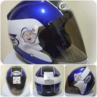 0803***ARC AR1 TIARA BLUE v TINTED VISOR Helmet For Sale 😁😁Thanks To All My Buyer Support 🐇🐇 Yamaha, Honda, Suzuki