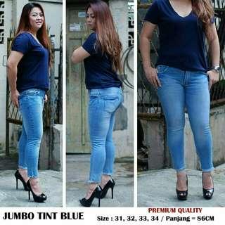 Celana jeans jumbo tint blue