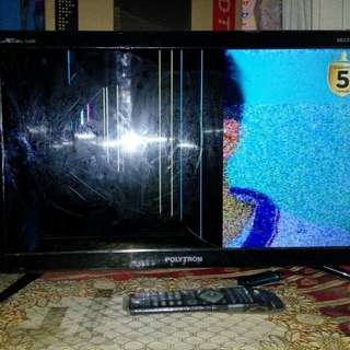 Tv led polytron 24inch