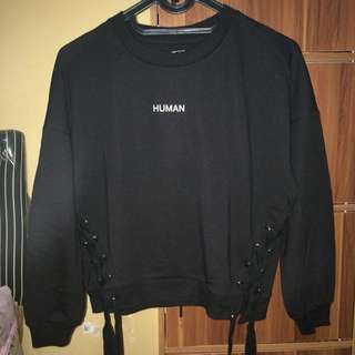 sweater colorbox human black hitam hoodie jacket
