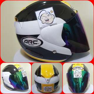 0803***ARC AR1 TIARA YELLOW v RAINBOW VISOR Helmet For Sale 😁😁Thanks To All My Buyer Support 🐇🐇 Yamaha, Honda, Suzuki