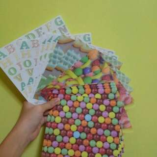 cute cookies and candies print origami paper