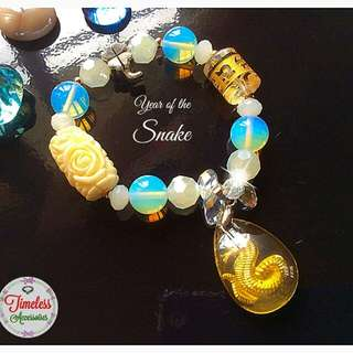 Year of the SNAKE Lucky Charm Bracelet