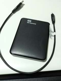 WD 1TB external HDD