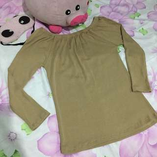 Off - Shoulder blouse (Nude color)