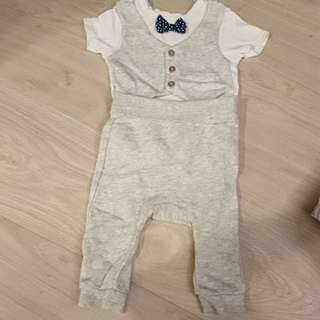 H and M baby boy suit romper with matching pants