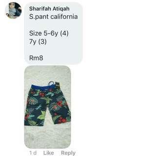 Boy Short pant