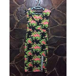 Flower body fit dress