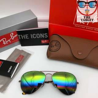 ray Ban aviator flash lenses rb3025 58mm size rayban brand new original full packages