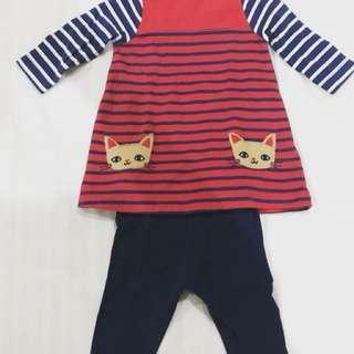 Mothercare dress & legging set