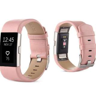 Blush Pink Leather Strap (Fitbit Charge 2)
