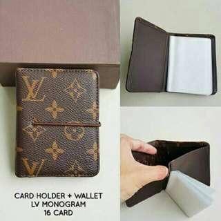 Card Holder + Wallet LV Monogram Brown